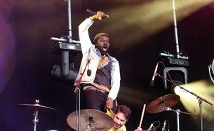 Féfé, ici lors d'un concert organisé le 4 mai dernier par SOS racisme place de la République à Paris.