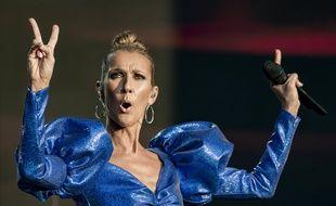 Céline Dion en concert à Londres, le 5 juillet 2019.
