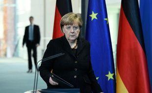 Angela Merkel à la Chancellerie le 14 novembre 2015 à Berlin