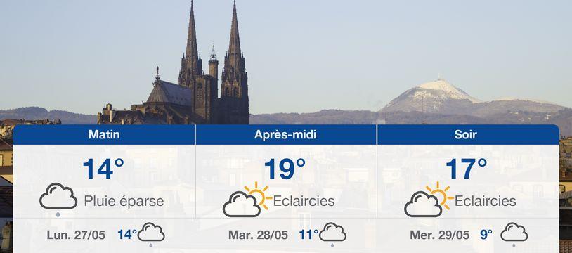 Météo Clermont-Ferrand: Prévisions du dimanche 26 mai 2019