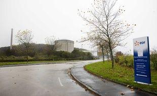 L'entrée du site de Lannilis, qui abrite la centrale nucléaire d'EDF, fermée en 1985 mais toujours en cours de démantèlement.