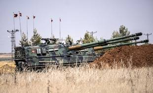 Des chars turcs dans le nord de la Syrie.