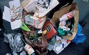 Illustration d'ordures ménagères