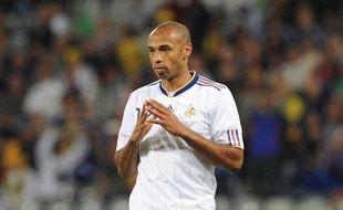 L'attaquant de l'équipe de France, Thierry Henry, lors du match contre l'Uruguay, le 11 juin 2010.