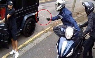 Des images de la police londonienne montrant l'agression des joueurs d'Arsenal Sead Kolasinac et Mesut Özil, en juillet 2019.