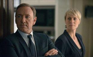 Kevin Spacey et Robin Wright dans la série de Netflix «House of Cards».