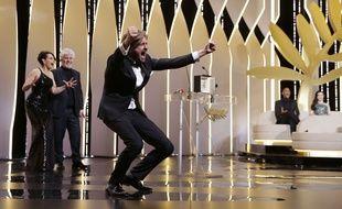 Ruben Ostlund reçoit la palme d'or à Cannes pour The Square le 28 mai 2017