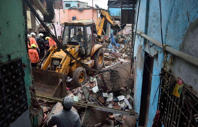 648x415 ruines immeuble effondre debut juin bidonville bombay inde debut saison mousson