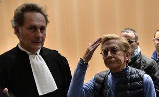 """Paris, le 18 octobre 2019. Isabelle Balkany exprime son ras-le-bol après l'audience du tribunal l'ayant condamné, elle et son mari, pour """"blanchiment de fraude fiscale""""."""