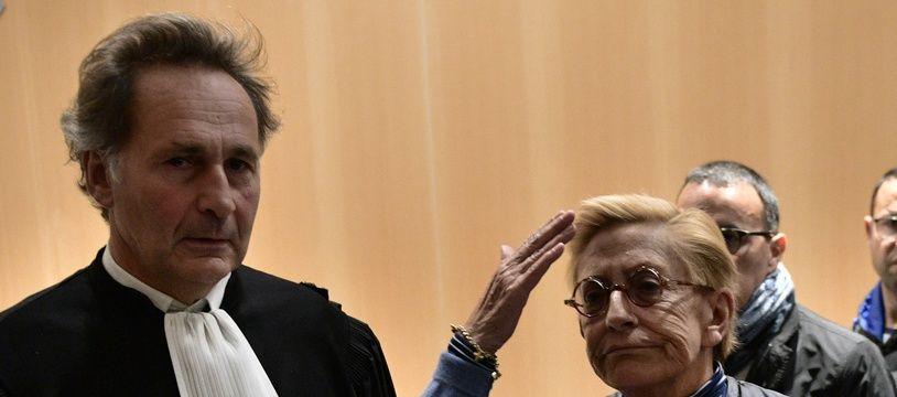 Paris, le 18 octobre 2019. Isabelle Balkany exprime son ras-le-bol après l'audience du tribunal l'ayant condamné, elle et son mari, pour