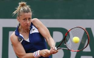 Pauline Parmentier, le 29 mai 2014 à Roland-Garros.