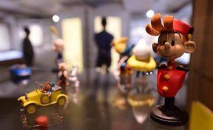 Une figurine du personnage de BD Spirou exposée dans le Centre belge de la bande dessinée, le 3 octobre 2014, à Bruxelles