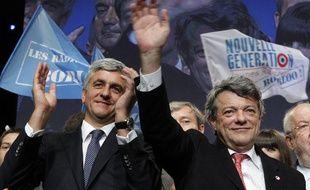 Hervé Morin et Jean-Louis Borloo lors du Congrès du Parti Radical, le 15 mai 2011 à Paris