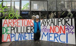 Manifestation à Nantes contre le projet d'aéroport de Notre-dame-des-Landes, le 22 février 2014