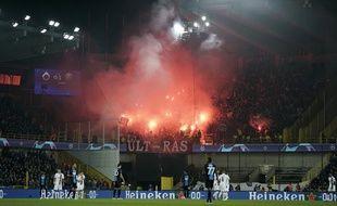 Les ultras du PSG avaient allumé des fumigènes lors du match de C1 face à Bruges.