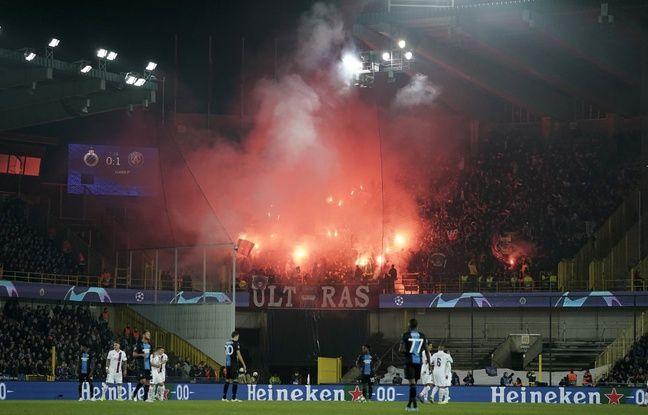 Ligue des champions: 50.000¬ d'amende et un déplacement sans ses supporters, avec sursis, pour le PSG après les débordements contre Bruges