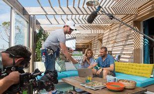Ingrid Chauvin et Alexandre Brasseur sur le tournage de «Demain nous appartient».