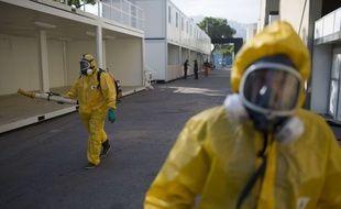 Les autorités épandent du pesticide à Rio de Janeiro (Brésil le 26 janvier 2016.