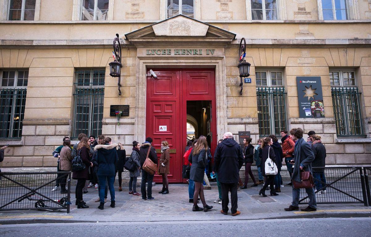 Le lycée Henry IV après une fausse alerte à la bombe, le 26 janvier  – SIPA PRESS