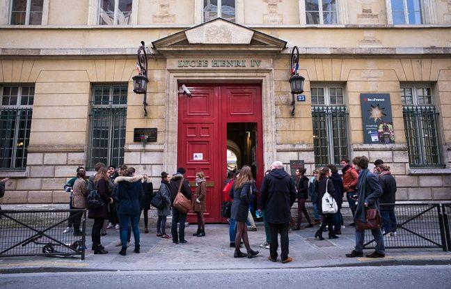Le lycée Henry IV après une fausse alerte à la bombe, le 26 janvier