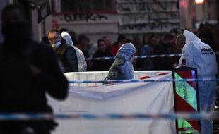 Un homme a blessé des passants sur la Canebière à Marseille avant d'être abattu par la police le mardi 19 février 2019 (Photo by Boris HORVAT / AFP)