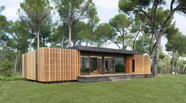 VIDEO. Aix-en-Provence: Une maison écologique et recyclable à monter en deux semaines