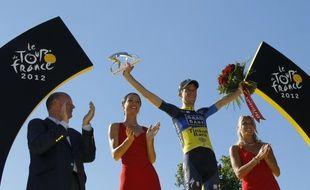 Le coureur danois Chris Anker Sorensen, vainqueur du prix de la combativité lors du Tour de France 2012, le 22 juillet 2012 à Paris.