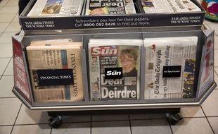 Le Sun dans un kiosque de Londres, le 20 janvier 2015.