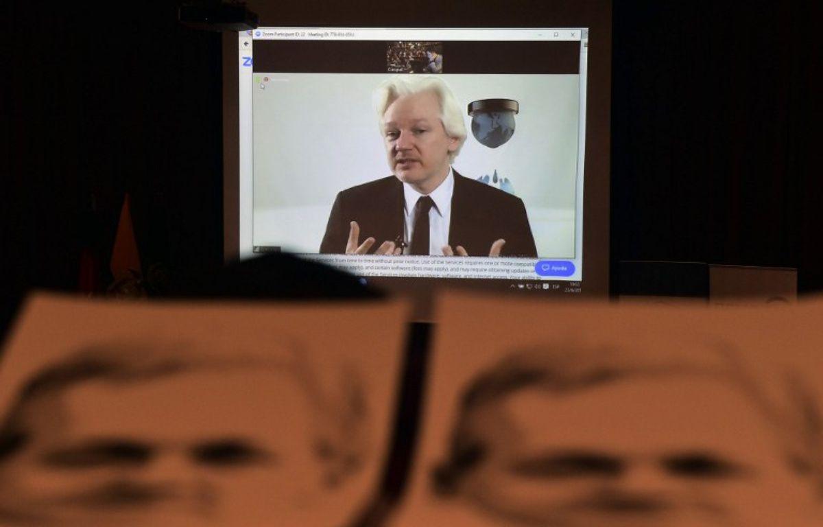 Le fondateur de Wikileaks Julian Assange – RODRIGO BUENDIA / AFP