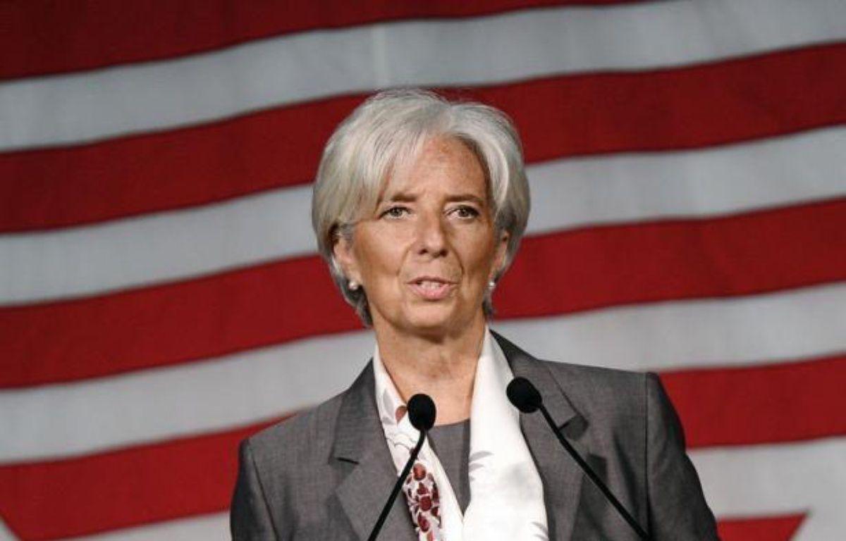 """La directrice du Fonds monétaire international Christine Lagarde s'est attiré les foudres des Grecs, qui se disent """"humiliés"""" par ses propos sur le paiement des impôts, mais aussi les critiques de Paris qui a qualifié sa vision d'""""un peu caricaturale et schématique"""". – Emmanuel Dunand afp.com"""