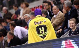 La mascotte du HBC Nantes, «Super H».