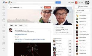 Le nouveau design de Google+, lancé le 11 avril 2012.