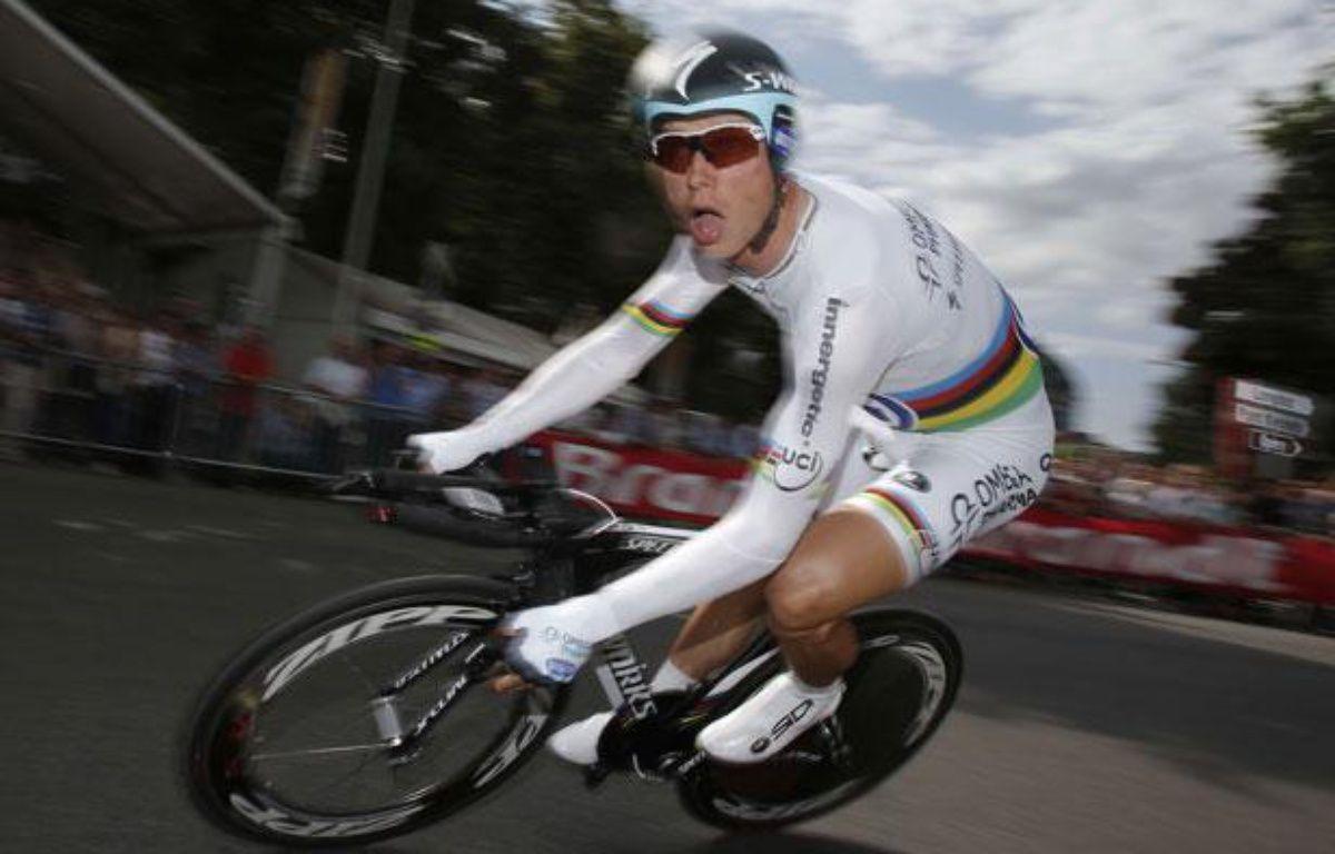 Le rouleur de l'équipe Omega Pharma, Tony Martin, lors du prologue du Tour de France, le 30 juin 2012, à Liège. – C.Ena/Sipa