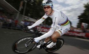 Le rouleur de l'équipe Omega Pharma, Tony Martin, lors du prologue du Tour de France, le 30 juin 2012, à Liège.