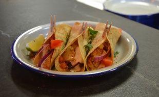 Le tacos noix de Saint-Jacques et chorizo des frères Pourcel