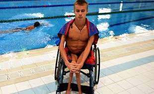 Le nageur paralympique russe Alexander Makarov en août 2016.