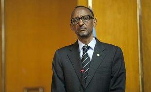 Le président rwandais, Paul Kagame, le 16 avril 2015 à Addis Abeba, en Ethiopie