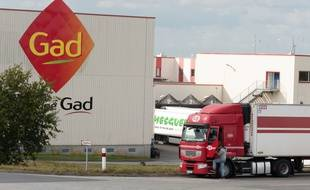 The commercial court in Rennes decides thursday on the takeover offer of Gad pig slaughterhouse in Josselin, in liquidation./PATTIERMATHIEU_pattier1457.04/Credit:MATHIEU PATTIER/SIPA/1410151506