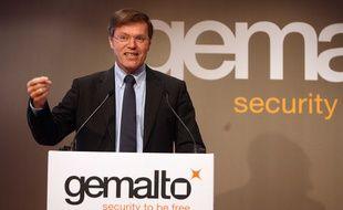 Le directeur général de Gemalto, Olivier Piou, en 2008.