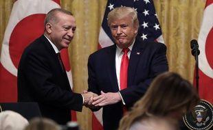 Donald Trump a accueilli le président turc Recep Tayyip Erdogan à la Maison Blanche le 13 novembre 2019.