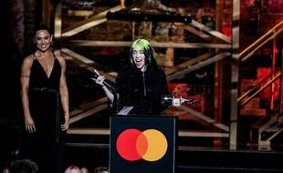 La chanteuse Billie Eilish aux BRIT Awards