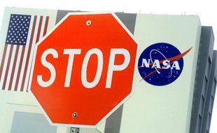 L'entrée d'un batiment de la Nasa au Kennedy Space Center