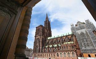 Strasbourg le 25 05 2014. La cathédrale de Strasbourg