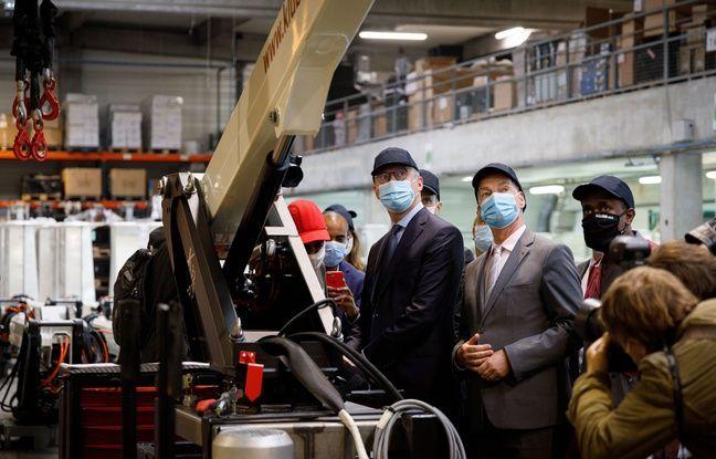 648x415 bruno maire alain griset visitent septembre 2020 usine klubb specialisee fabrication nacelles elevatrices ferrieres brie