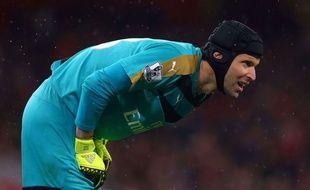 Petr Cech face à Liverpool, le 24 août 2015