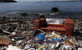 Une vue sur la baie de Guanabara où se disputeront les compétitions de voile des JO de Rio.