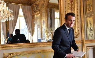 Emmanuel Macron, le 19 mars 2019 à Paris.