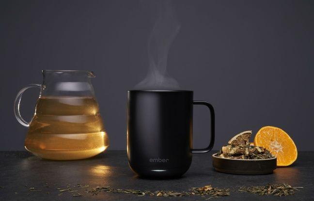 Ce mug maintient au chaud et à la juste température thés et cafés.