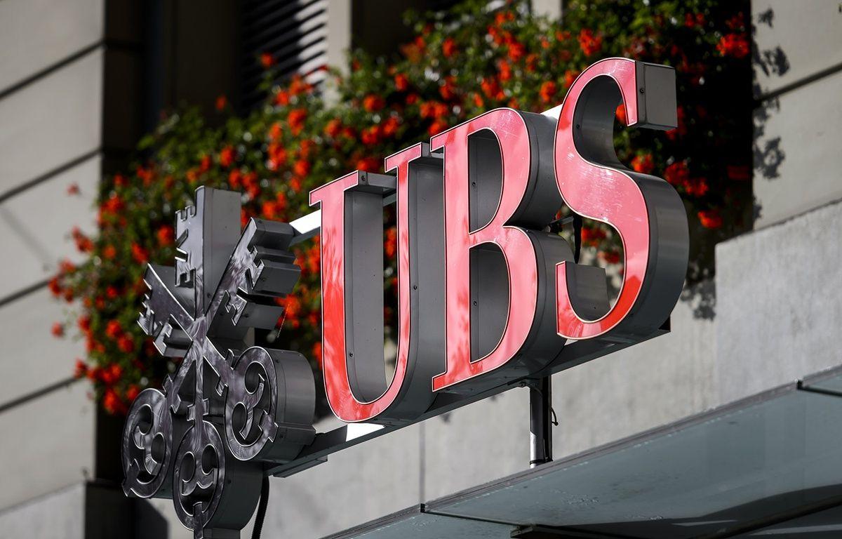 Une agence de la banque suise UBS à Berne. – FABRICE COFFRINI / AFP