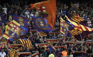 Les supporters du FC Barcelone lors du match contre Valence, le 14 septembre 2019.